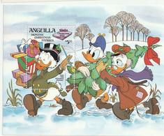 ANGUILLA - Christmas 1983, Donald Tenant Le Sapin Et Picsou Les Cadeaux - MNH - 1983 - Anguilla (1968-...)