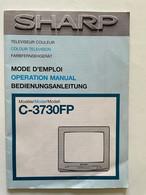 Notice Instructions Tv Téléviseur Couleur SHARP C-3730FP Mode D'emploi - Televisione