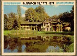 CALENDRIER GF 1974 - Château De Fontainebleau, Versailles Hameau De La Reine, Imprimeur Oller (calendrier Double) - Big : 1971-80