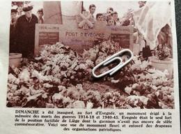FORT D'EVEGNÉE UN MONUMENT A LA MÉMOMOIRE DES MORTS DES GUERRES1914-1918 ET 1940 - 45 - Sin Clasificación