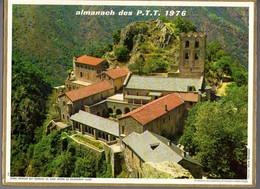 CALENDRIER GF 1976 - Vauvert 37 Indre&Loire, St Martin Du Canigou 66 PO, Imprimeur Oller (calendrier Double) - Big : 1971-80