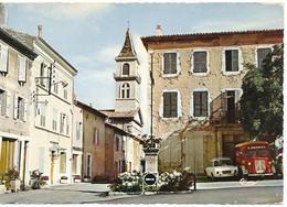LUC-EN-DIOIS (26.Drôme) Place De La Croix - Fourgon Citroen HY Et Simca 1500 - Luc-en-Diois