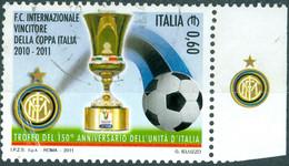 ITALIA, ITALIE, SPORT, CALCIO, 2011, 0,60 €, FRANCOBOLLO USATO Mi.: IT 3477  YT: IT 3238 - 2011-...: Usados