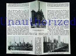 ► NEUVES-MAISONS HOMECOURT -  ACIERIE  Les Fourneaux   - Début XXe Coupure De Presse (Encadré Photo) - Documentos Históricos