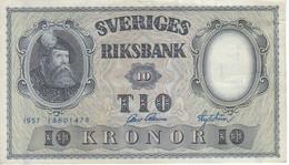 BILLETE DE SUECIA DE 10 KRONOR DEL AÑO 1957  (BANKNOTE) - Sweden