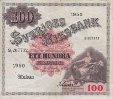 BILLETE DE SUECIA DE 100 KRONOR DEL AÑO 1950 (BANKNOTE) - Sweden