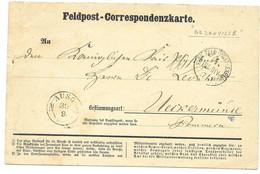 August 1870 German Feldpost Card - Soldier In Bezenville / France - Wars
