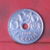 NORWAY 1 KRONE 1998 -    KM# 462 - (Nº41691) - Norway