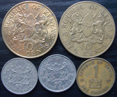 Lot De Monnaies Du Kenya - Kenya