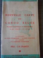Carte CONGO BELGE Années 50 En Livret - Geographische Kaarten