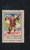 "VIGNETTE "" CONTRE LA TUBERCULOSE "" 1937 - Antituberculeux"