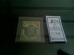 1 Stamp, Used, Španielsko, Year: 1854, Michel: 27, Price: 35 Eur; - Oblitérés