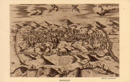 ISRAËL  JÉRUSALEM  . ............. Carte Postale Reproduisant Un Plan Ancien - Israel