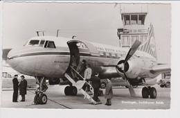 Vintage Rppc KLM K.L.M. Royal Dutch Airlines Convair Aircraft @ Eelde Groningen Airport - 1919-1938: Between Wars
