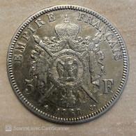 5 FRANCS NAPOLEON III ARGENT 1868 B - J. 5 Franchi