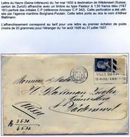 Lettre Le Havre 1930 Perforé CP 342 - Perfin