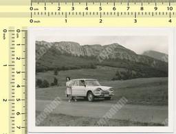 OLD CAR,  Citroen Ami 8,  AUTOMOBILE Woman - Voiture, Auto  Vintage Old Photo Photograph - Automobiles