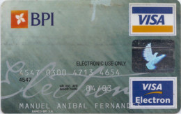 Portugal BPI 2001_03 - Credit Cards (Exp. Date Min. 10 Years)