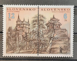 Slovakia - 2002 - MNH As Scan - Castles And Temples - Joint With China - 2 Stamps - Nuovi