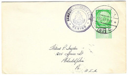 German Ship Mail From Guayaquil Ecuador To USA (cancel Also On Back) 1930 - Equateur