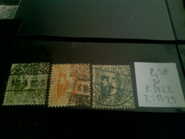 3 Stamps, Uper Silesie, Used, Year: 1922, Michel: 15/22, Price: 2,5 Eur; - Silesia (Lower And Upper)