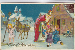 CPA Vive St Nicolas, Santa Claus, Sinterklaas (pk80039) - Sinterklaas