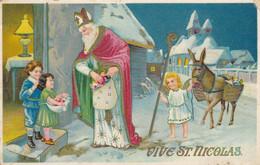 CPA Vive St Nicolas, Santa Claus, Sinterklaas (pk80040) - Sinterklaas