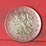 CZECK REPUBLIC 50 KORUN 1993 -    KM# 1 - (Nº41731) - Czech Republic