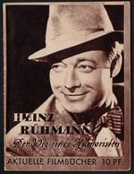 3549 - Heinz Rühmann - Der Weg Eines Humorsiten - Aktuelle Filmbücher - Stenbock Meisel - Verlag Karl Curtius - Programmes