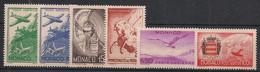 Monaco - 1941 - Poste Aérienne PA N°Yv. 2 à 7 - Série Complète - Neuf Luxe ** / MNH / Postfrisch - Aéreo