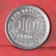MALAYSIA 10 CENTS 1961 -    KM# 2 - (Nº41754) - Malaysia