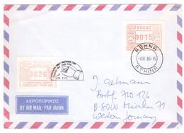 EW184   Greece  1986 - Cover Air Mail To Germany - ATM FRAMA - Cartas