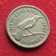 New Zealand 6 Pence 1947 KM# 8a Sixpence  Nova Zelandia Nuova Zelanda Nouvelle Zelande Six 6 D - New Zealand