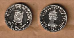 JERSEY 1 Pound  (St. Helier) 1983 Silver (.925) • 11.68 G • ⌀ 22.50 Mm KM# 59a - Jersey