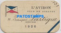 157120 ARGENTINA CLUB DE REGATES L'AVIRON YEAR 1926 CARD NO POSTAL POSTCARD - Argentina