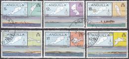 Anguilla 1979 Michel 359 - 364 O Cote (2005) 2.00 Euro Les îles D'Anguilla Cachet Rond - Anguilla (1968-...)