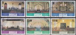 Anguilla 1979 Michel 341 - 346 O Cote (2005) 2.80 Euro Intérieurs D'églises Cachet Rond - Anguilla (1968-...)