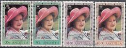 Anguilla 1980 Michel 392 - 395 O Cote (2005) 4.50 Euro Reine Elizabeth Cachet Rond - Anguilla (1968-...)