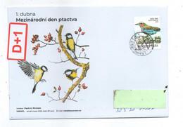 Czech Republic 2021 -  International Birds Day, Aspecial Cover, Nice And Rare Self-adhesive Stamp, Postage Used - Sperlingsvögel & Singvögel