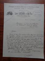 FACTURE - 69 - DEPARTEMENT DU RHÔNE - CENVES-VIEUX-CHATEAU  1924 - FROMAGES, VOLAILLES, CHEVREAUX : LOUIS LASSARA & FILS - Ohne Zuordnung