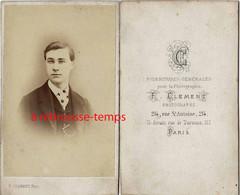 CDV Jeune Homme-photo Clément à Paris - Antiche (ante 1900)