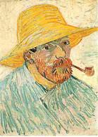 Art - Peinture - Vincent Van Gogh - Autoportrait Au Chapeau Et à La Pipe - CPM - Voir Scans Recto-Verso - Pittura & Quadri
