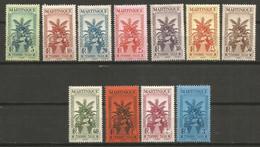 Timbre Colonie Française Martinique Neuf * N 12/22  Séries Complété - Timbres-taxe