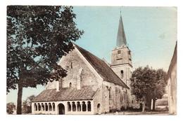 CPSM Colorisée Ed Combier   Boesses, L'eglise Et Le Porche 12je Timbre Vero Quimper Année 1954 - Other Municipalities