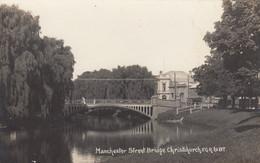 Christchurch New Zealand, Manchester Street Bridge C1910s Vintage Real Photo Postcard - New Zealand