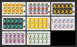 80228 Nevis Tuff Micket Serie Complète Bloc Feuillets De 10 Disney Bloc (BF) Neuf ** MNH - Disney