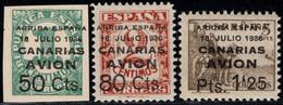 1937.MNH.Ed:**20/22.Canarias.Serie Completa.Sellos Habilitados - Sammlungen