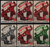 1936.MNH/MH.Fe:**/*3/8.Guerra Civil Española.Emisión Local Benéfica.Santiago De La Espada.Serie Completa.CMS Diseño Rect - Verschlussmarken Bürgerkrieg