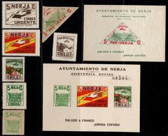 1936.MNH/MH.Fe:**/*1/2,4/9.Guerra Civil Española.Emisión Local Benéfica.Nerja.Lote Sellos Beneficos Locales De Nerja - Verschlussmarken Bürgerkrieg