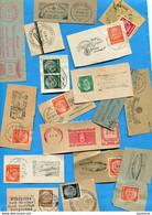 Marcophilie- 3° REICH-lot De 135 Timbres Bells Oblitérations Entières+ Quelques  Flammes  Sur Fragments De Lettres - Used Stamps